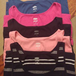 Old Navy ribbed fitted tank tops 5